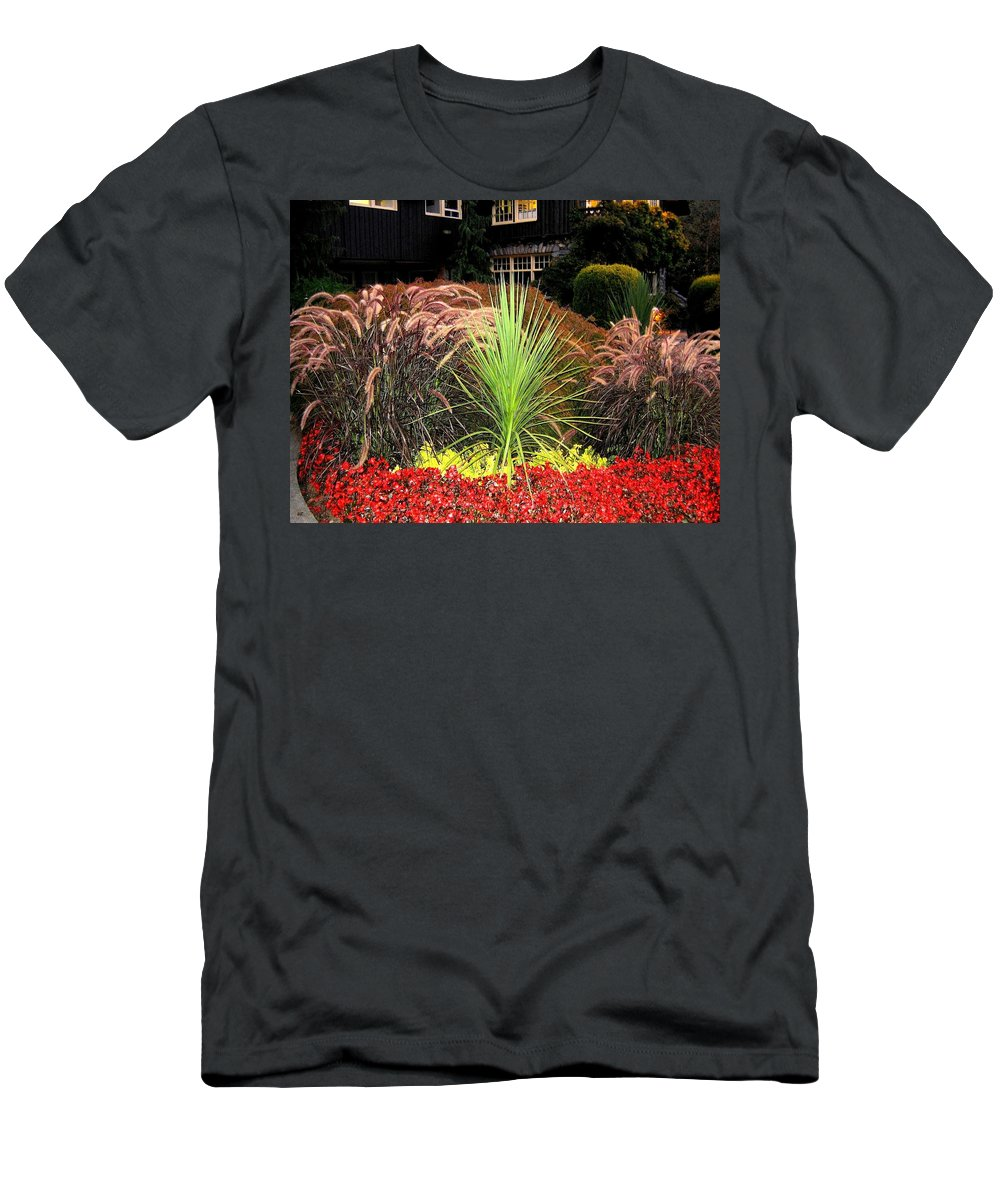 Stanley Park Men's T-Shirt (Athletic Fit) featuring the photograph Stanley Park Gardens by Will Borden
