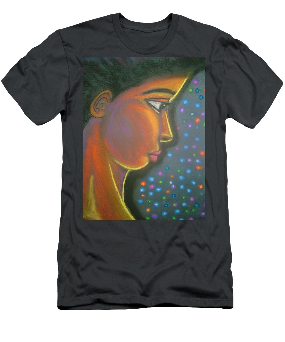 Men's T-Shirt (Athletic Fit) featuring the drawing Starbrite by Jan Gilmore