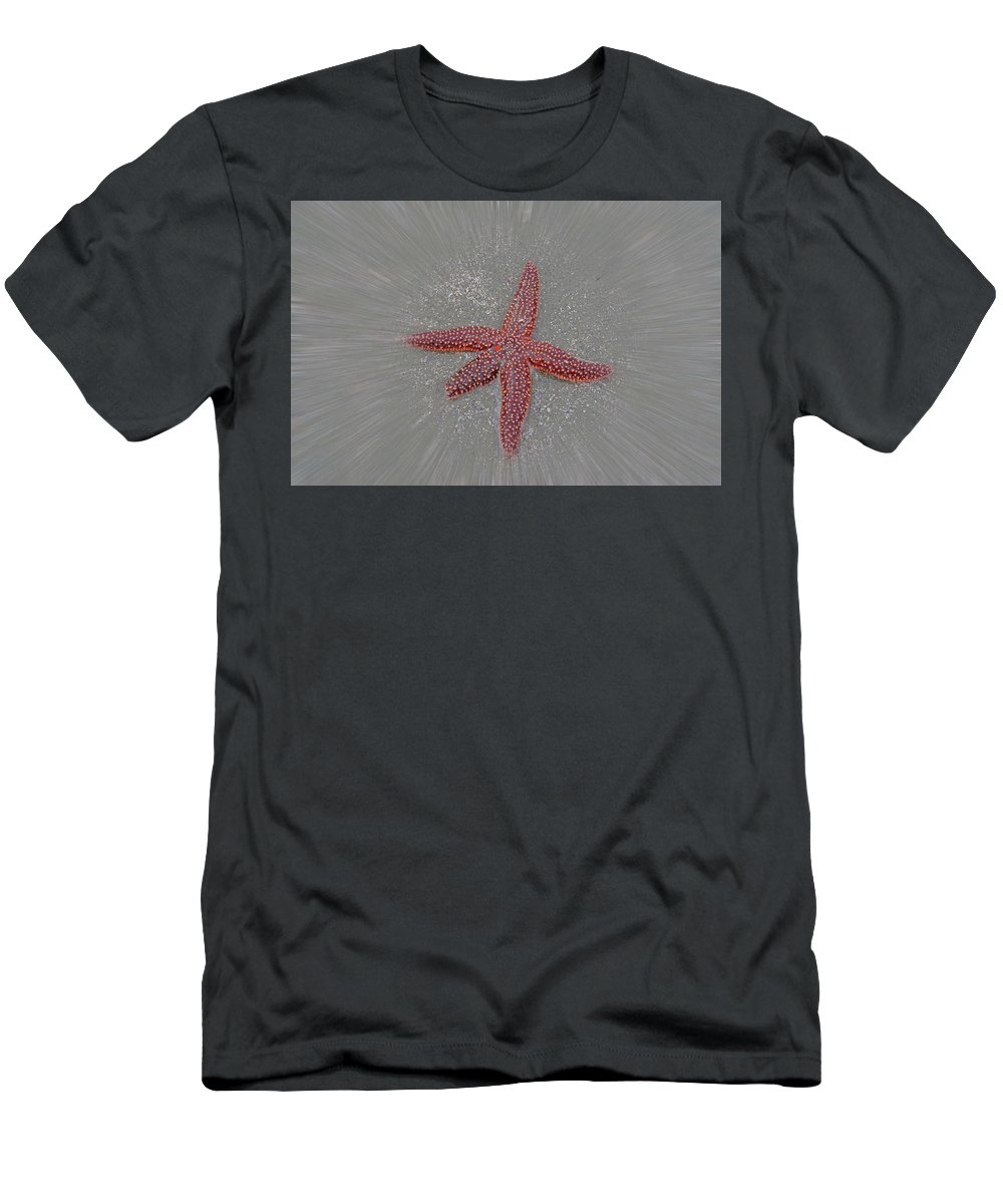 Starfish Men's T-Shirt (Athletic Fit) featuring the photograph Starfish by Gerald Monaco