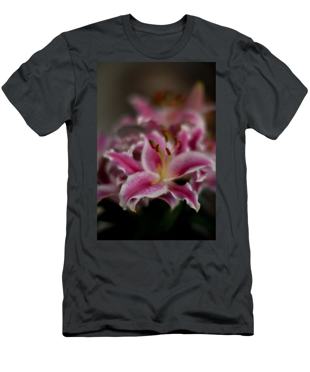 Lily Men's T-Shirt (Athletic Fit) featuring the photograph Stargazer Dream by Mike Reid