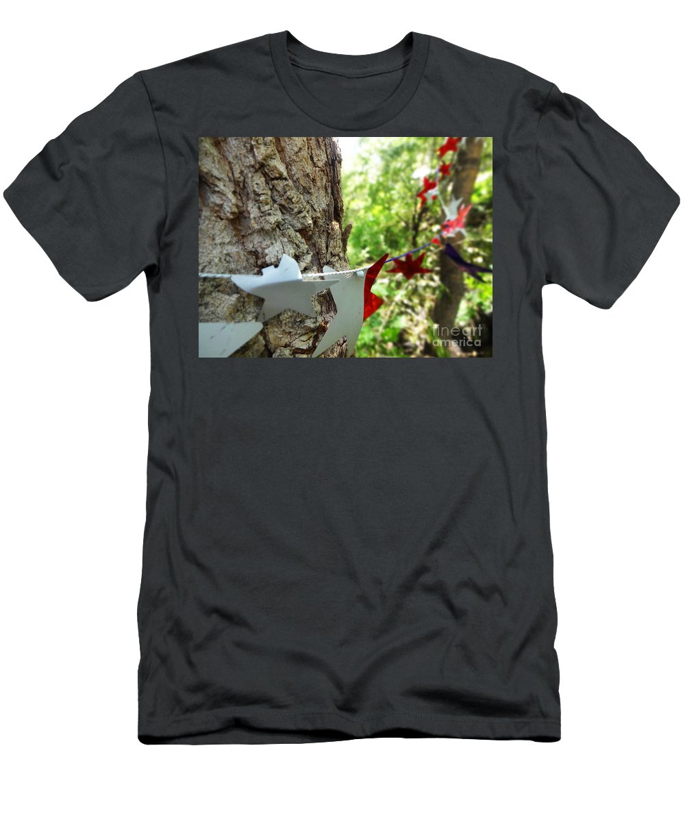 Tree Men's T-Shirt (Athletic Fit) featuring the photograph Stars Around Tree 1 by Korynn Neil