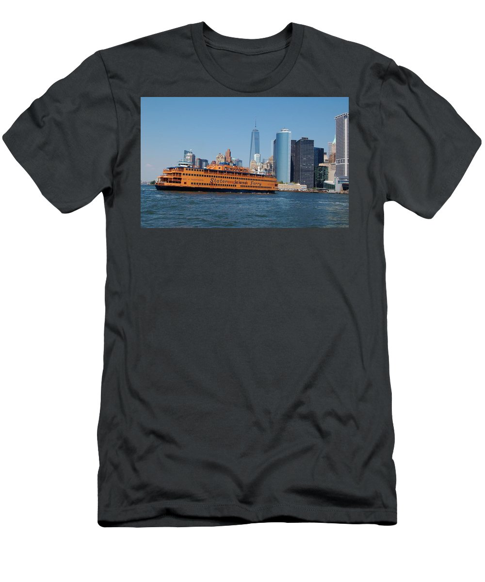 Nyc Men's T-Shirt (Athletic Fit) featuring the photograph Staten Island Ferry by Christopher James