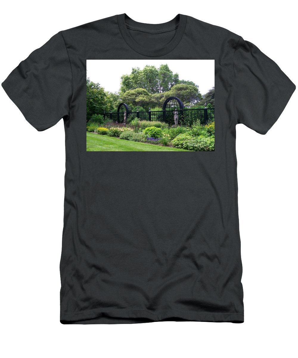 Men's T-Shirt (Athletic Fit) featuring the photograph Statues In A Garden by Laurie Eve Loftin