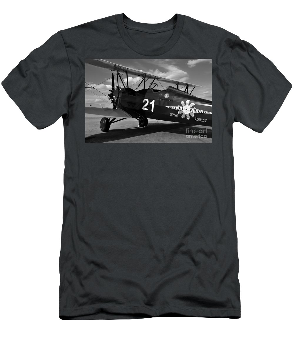 Stearman Men's T-Shirt (Athletic Fit) featuring the photograph Stearman Biplane by David Lee Thompson