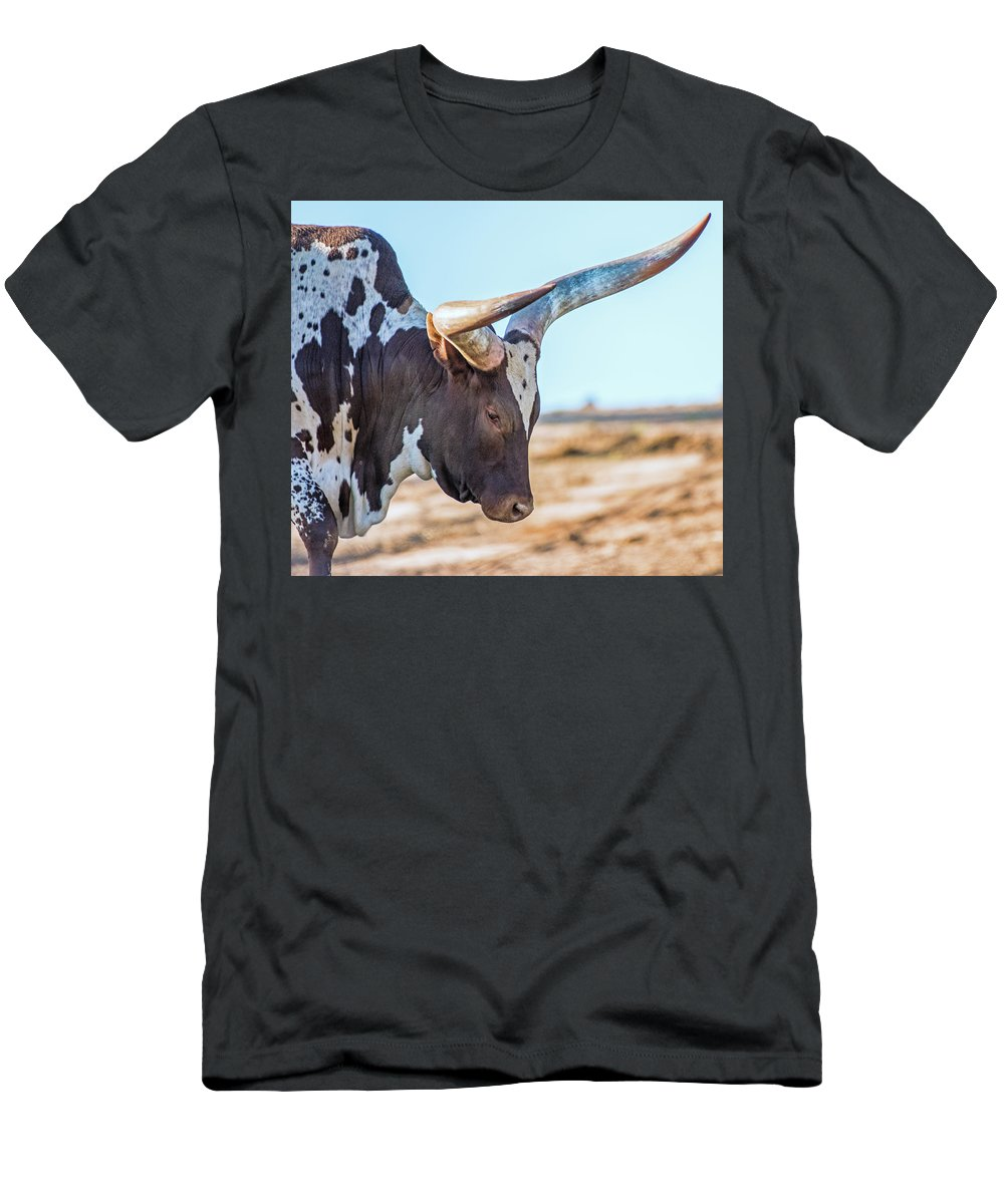 Steer Men's T-Shirt (Athletic Fit) featuring the photograph Steer Clear by Andrew Lelea