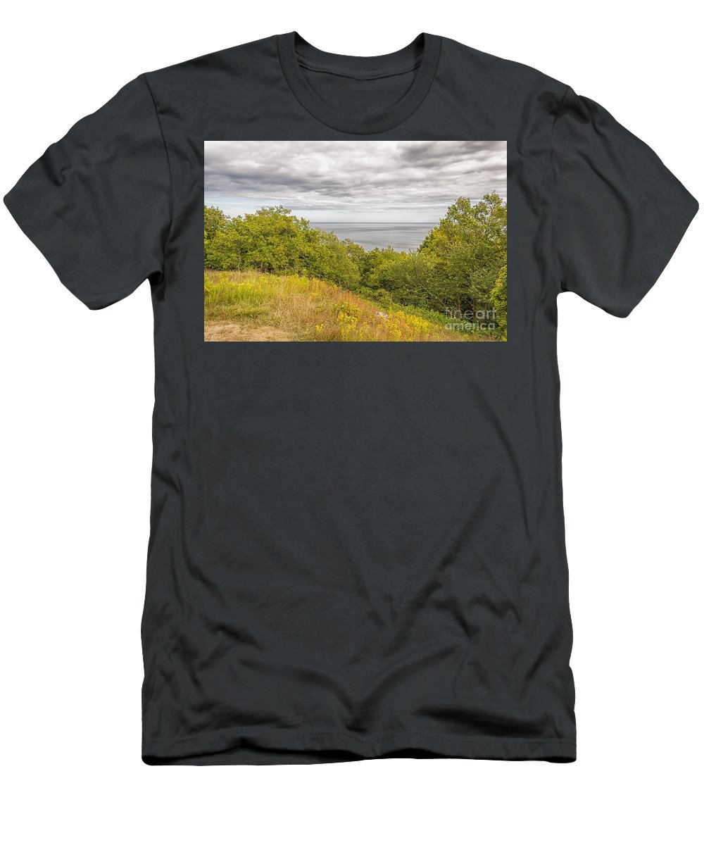 Stenshuvud Men's T-Shirt (Athletic Fit) featuring the photograph Stenshuvud Sea View by Antony McAulay