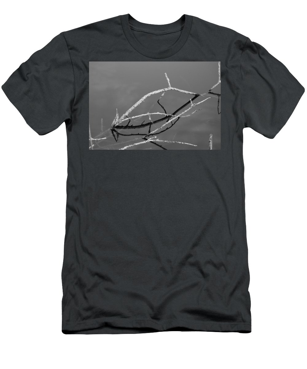 Black And White Men's T-Shirt (Athletic Fit) featuring the photograph Stick Bridges by Rob Hans