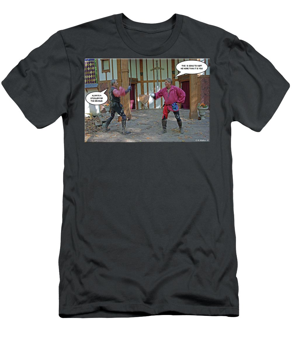 2d Men's T-Shirt (Athletic Fit) featuring the photograph Stickler by Brian Wallace