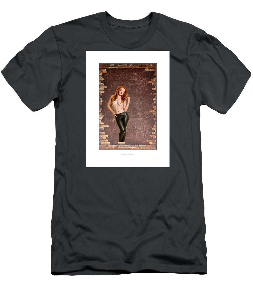 Woman Men's T-Shirt (Athletic Fit) featuring the photograph Still Waiting For The Builders To Reurn by Anthony Wadham