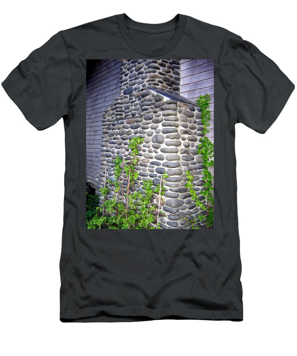 Chimney Men's T-Shirt (Athletic Fit) featuring the photograph Stone Chimney by Will Borden