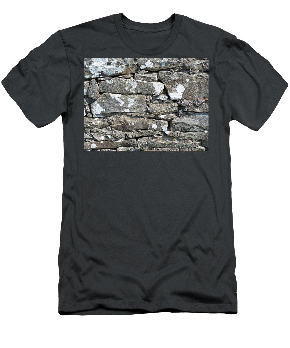Irish T-Shirt featuring the photograph Stone Wall Detail Doolin Ireland by Teresa Mucha