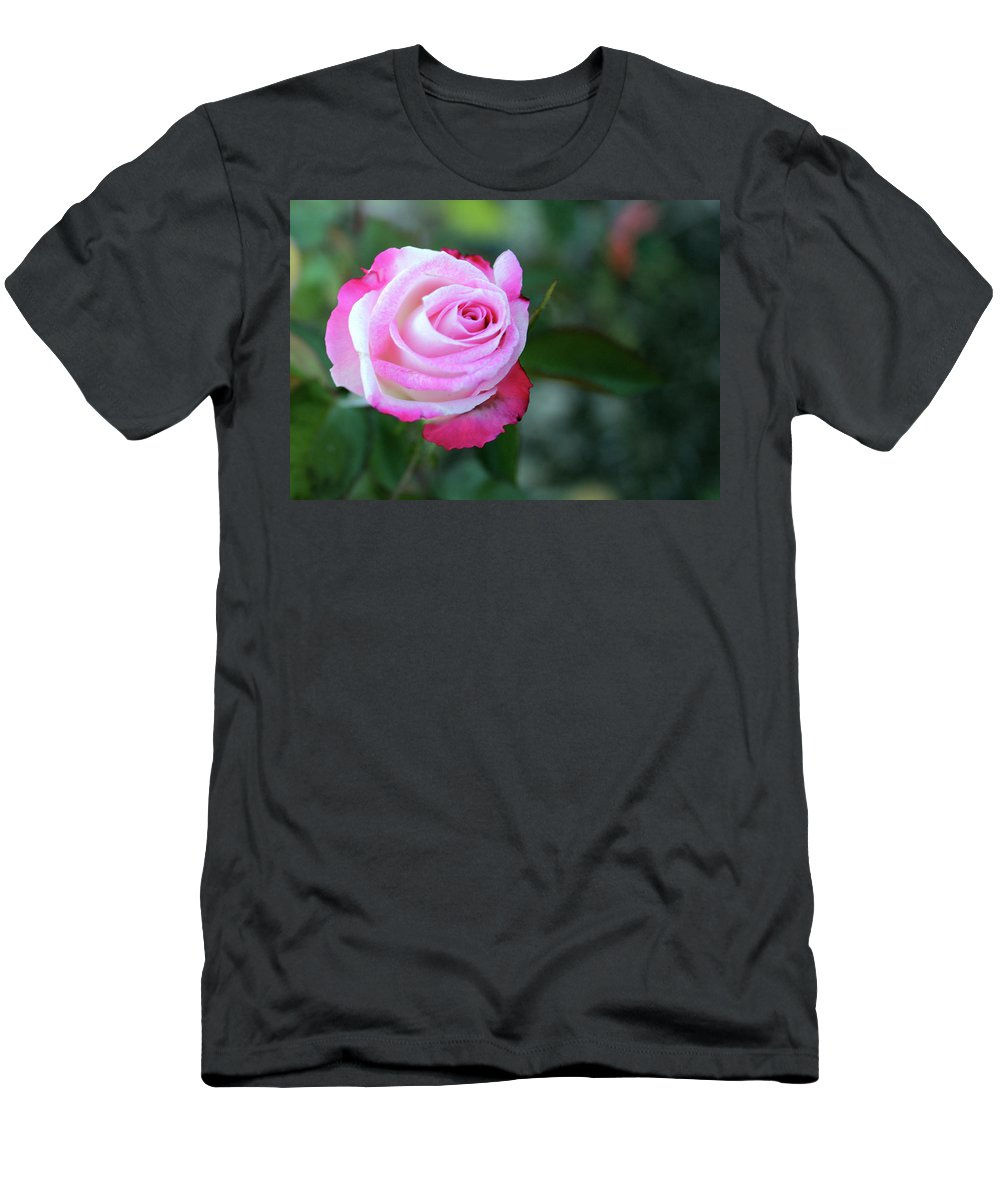Roses Men's T-Shirt (Athletic Fit) featuring the photograph Stop And Smell The Roses by Samantha Burrow