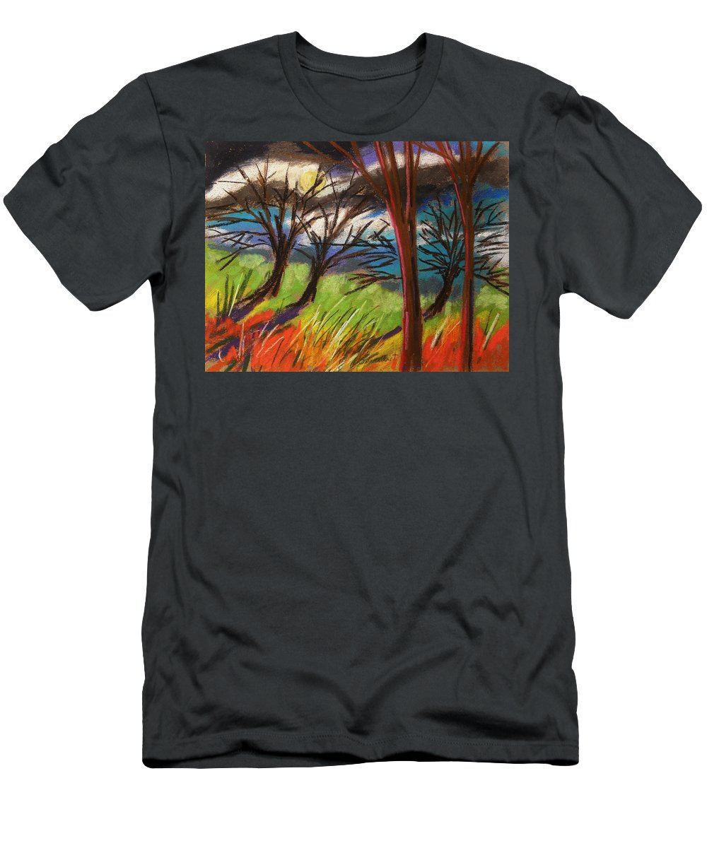 Pastes Men's T-Shirt (Athletic Fit) featuring the painting Storm Approaching Fast by John Williams