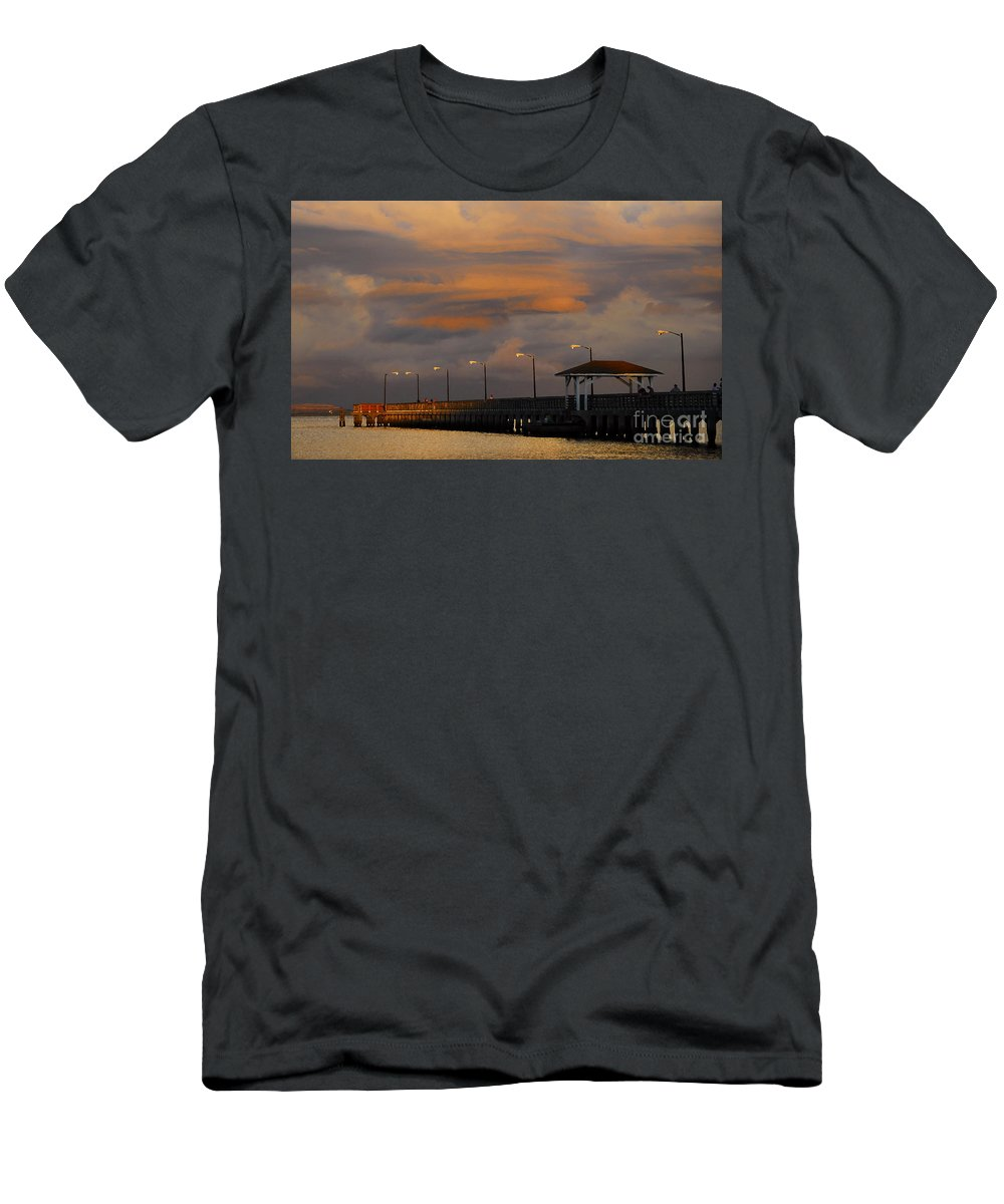Storm Men's T-Shirt (Athletic Fit) featuring the photograph Storm Over Ballast Point by David Lee Thompson