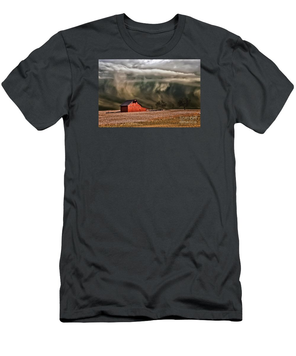 Storm Men's T-Shirt (Athletic Fit) featuring the photograph Storm's Coming by Lois Bryan