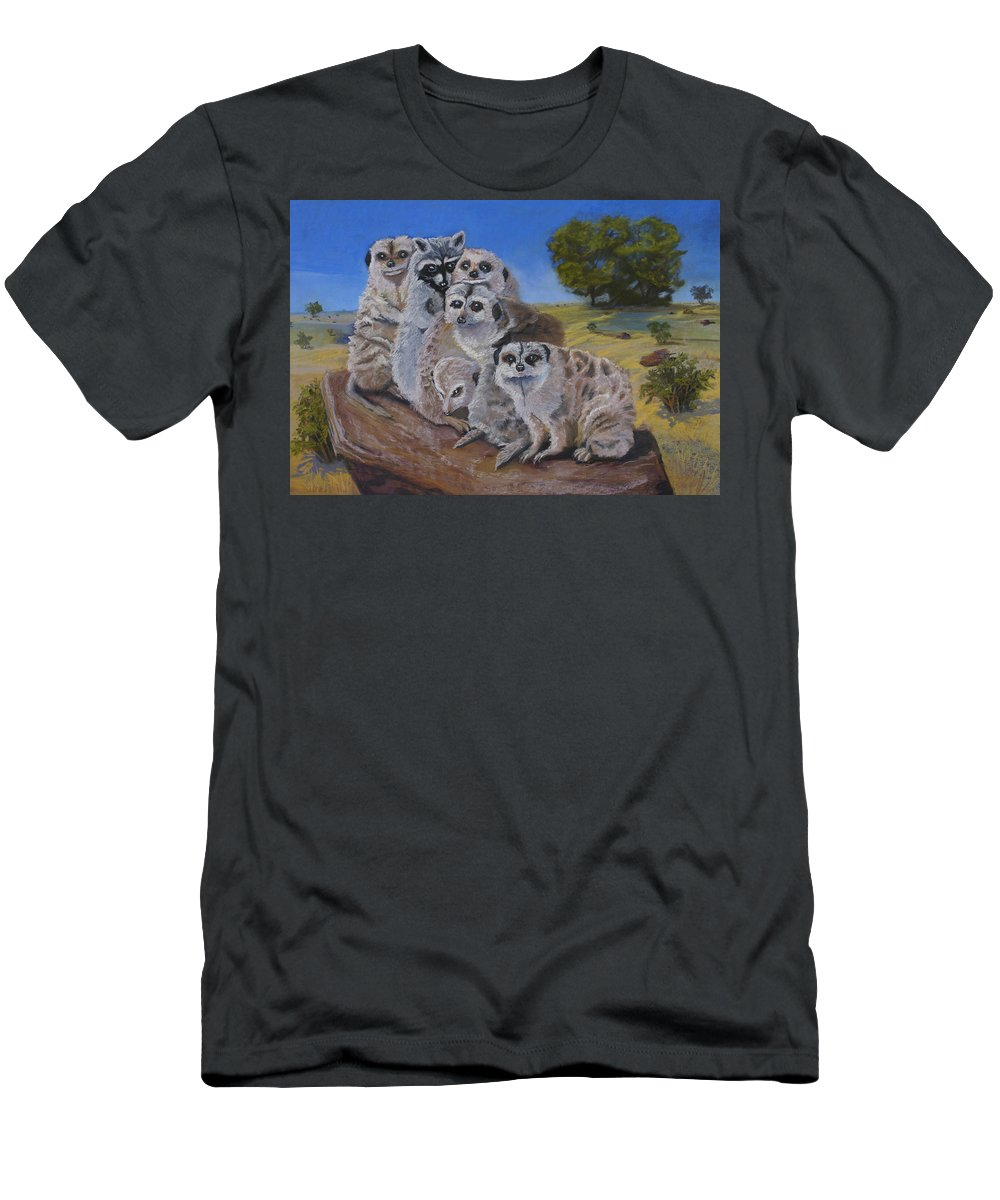 Meer Cat Men's T-Shirt (Athletic Fit) featuring the painting Stranger In A Strange Land by Heather Coen