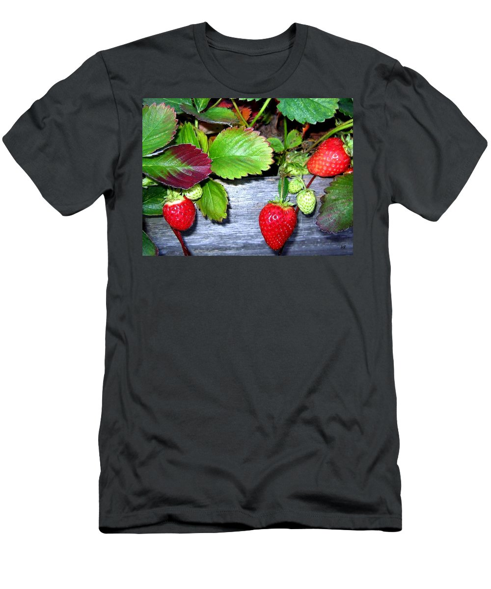 Strawberries Men's T-Shirt (Athletic Fit) featuring the photograph Strawberries by Will Borden