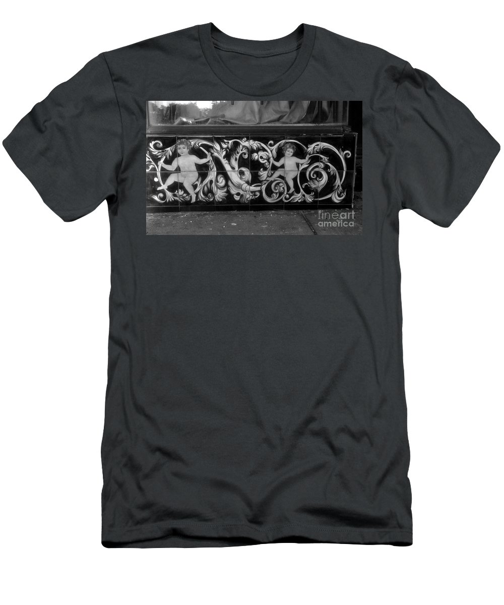 Innocence Men's T-Shirt (Athletic Fit) featuring the photograph Street Innocence by David Lee Thompson
