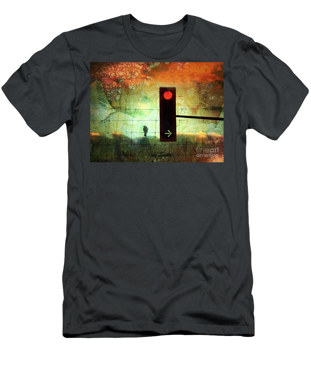 Street Men's T-Shirt (Athletic Fit) featuring the photograph Street Lights And Cold Nights by Tara Turner