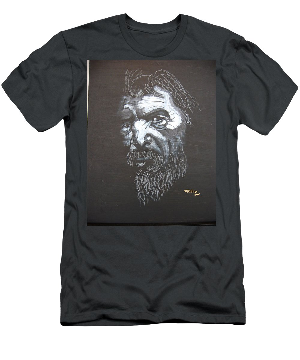 Street Men's T-Shirt (Athletic Fit) featuring the painting Street Person by Richard Le Page