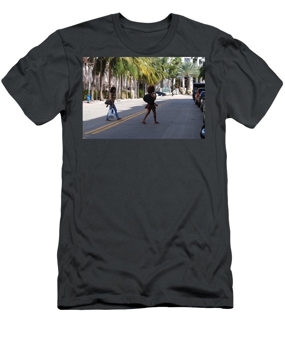 Girls Men's T-Shirt (Athletic Fit) featuring the photograph Street Walkers by Rob Hans