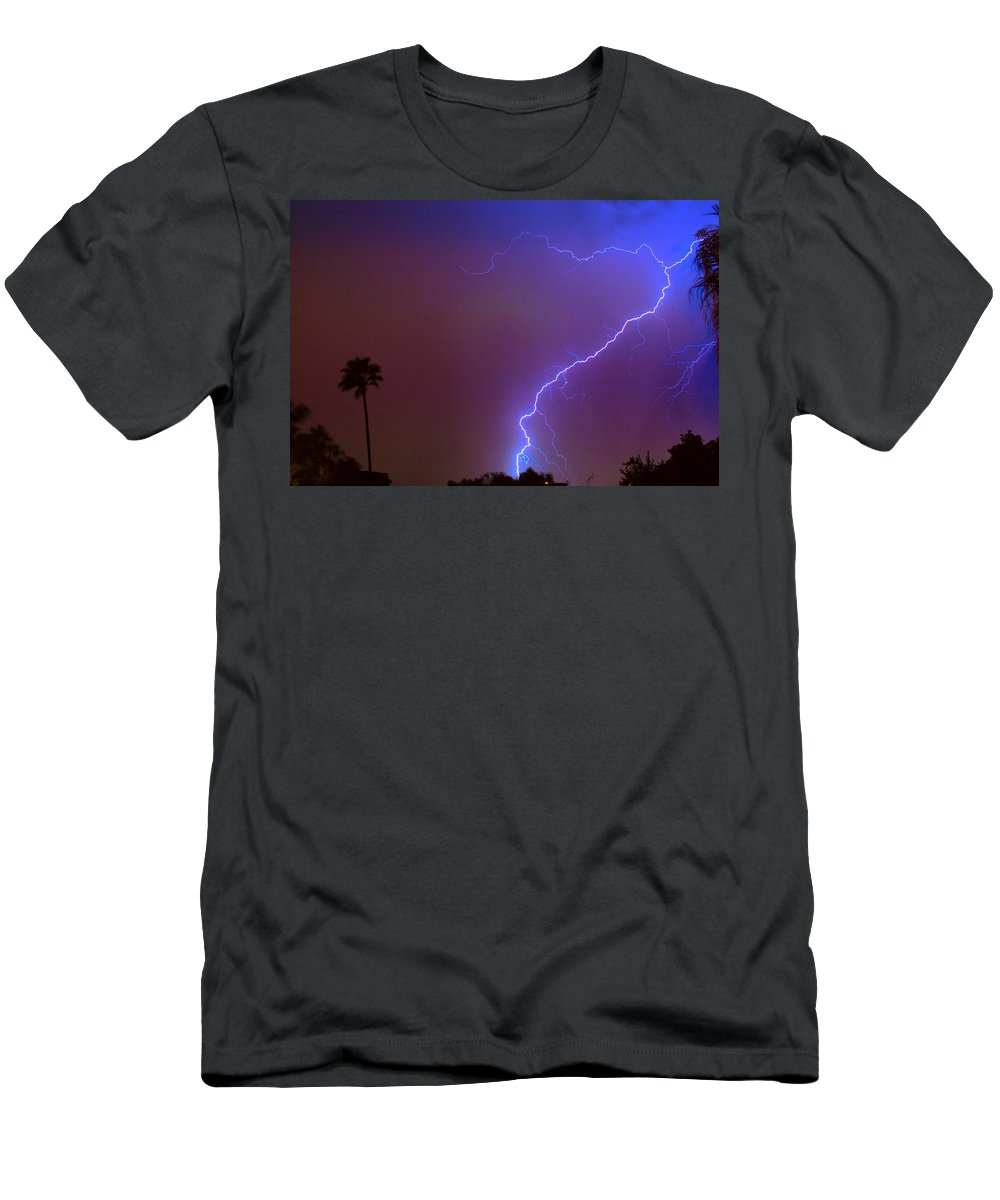 Lightning Men's T-Shirt (Athletic Fit) featuring the photograph Striking Out by James BO Insogna
