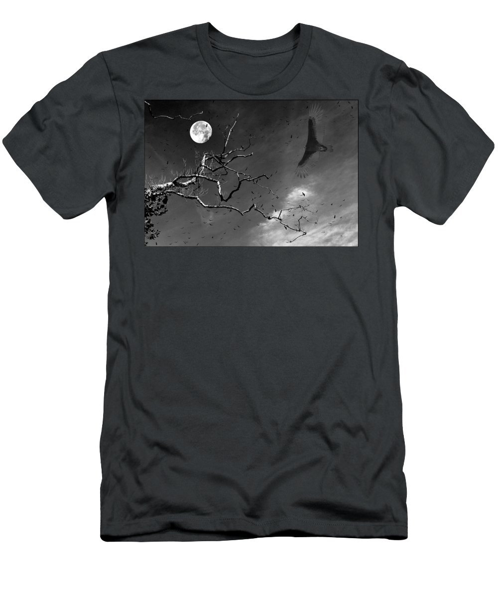 Photoshop Men's T-Shirt (Athletic Fit) featuring the photograph Stroke Of Midnight by Jenny Gandert