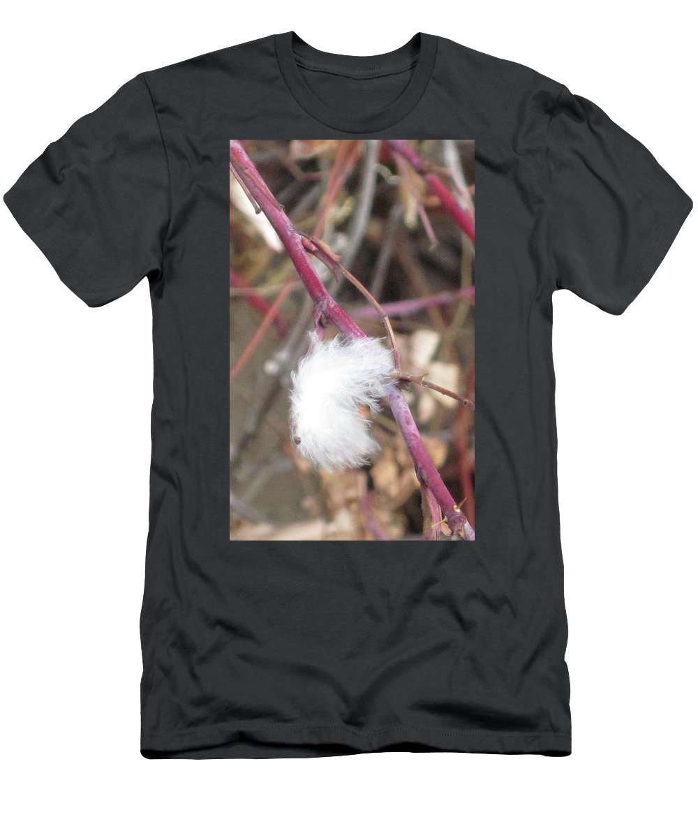 Feather Men's T-Shirt (Athletic Fit) featuring the photograph Stuck by Angus Hooper Iii