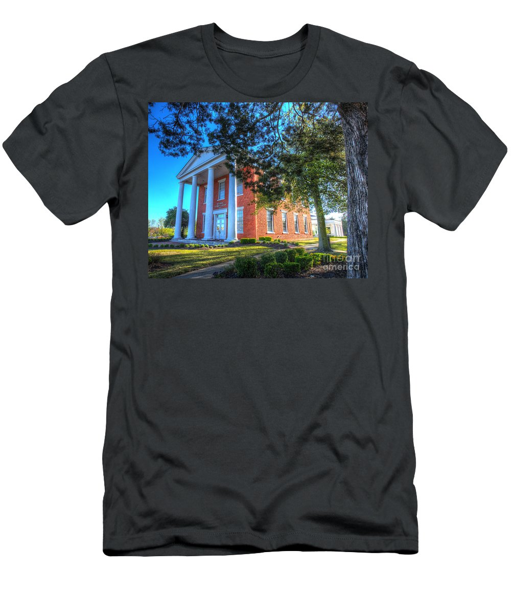 Christian Men's T-Shirt (Athletic Fit) featuring the photograph Suffolk Visitor Center by Greg Hager