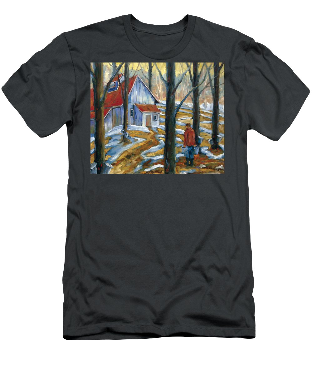 Suga Men's T-Shirt (Athletic Fit) featuring the painting Sugar Bush by Richard T Pranke