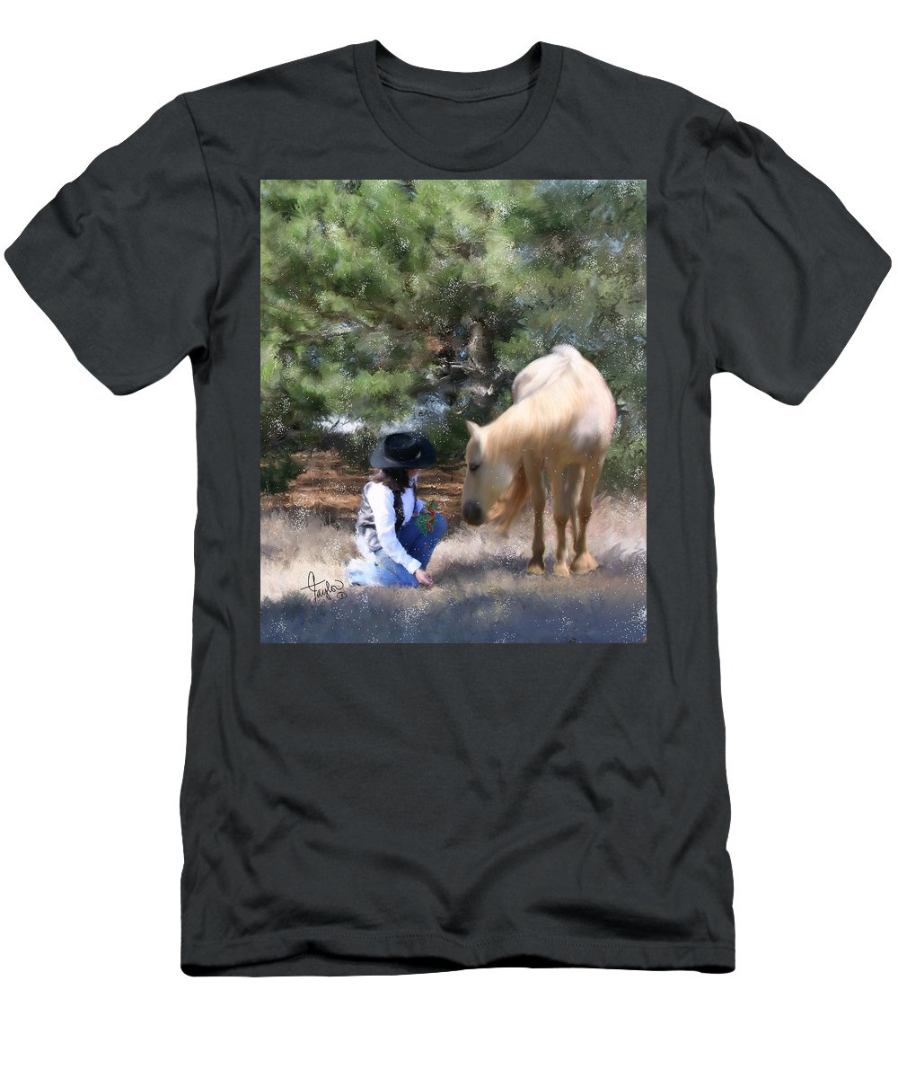 Cowgirl Men's T-Shirt (Athletic Fit) featuring the painting Sugar N Spice by Colleen Taylor