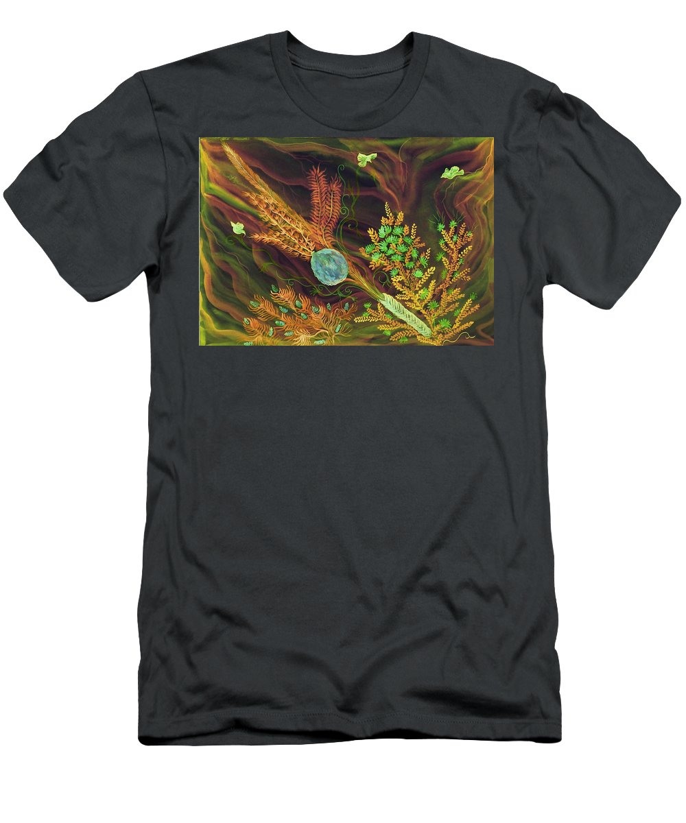 Lulav Men's T-Shirt (Athletic Fit) featuring the digital art Sukkot-the Lulav by Sandrine Kespi