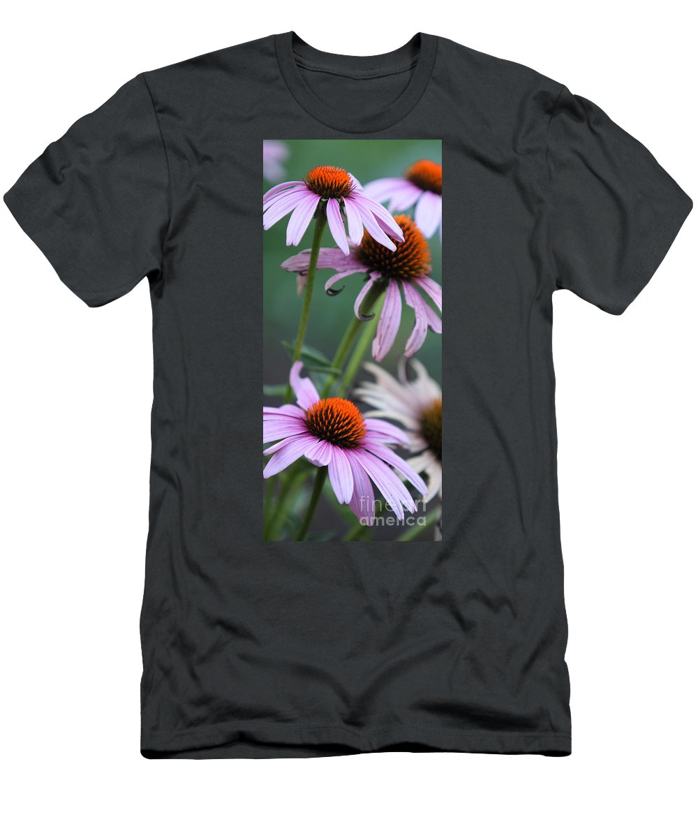 Echinacea Men's T-Shirt (Athletic Fit) featuring the photograph Summer by Amanda Barcon