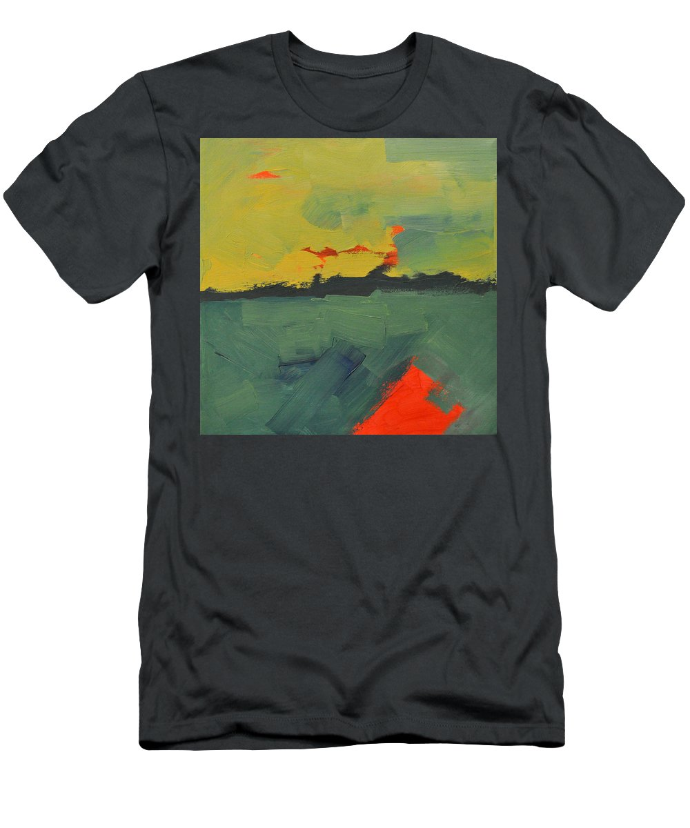 Abstract Men's T-Shirt (Athletic Fit) featuring the painting Summer Eve Bayside by Tim Nyberg