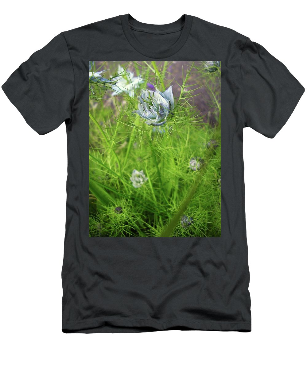 Flowers Men's T-Shirt (Athletic Fit) featuring the photograph Summer Flowers by Louise Macarthur Art and Photography