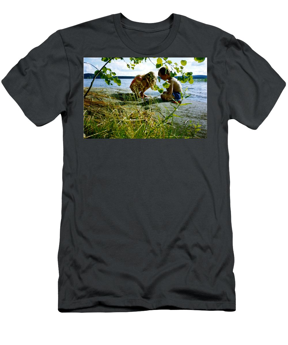 Kids Men's T-Shirt (Athletic Fit) featuring the photograph Summer Fun In Finland by Merja Waters