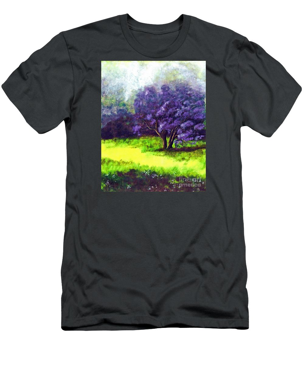 Fine Art Print Men's T-Shirt (Athletic Fit) featuring the painting Summer Mist by Patricia Griffin Brett