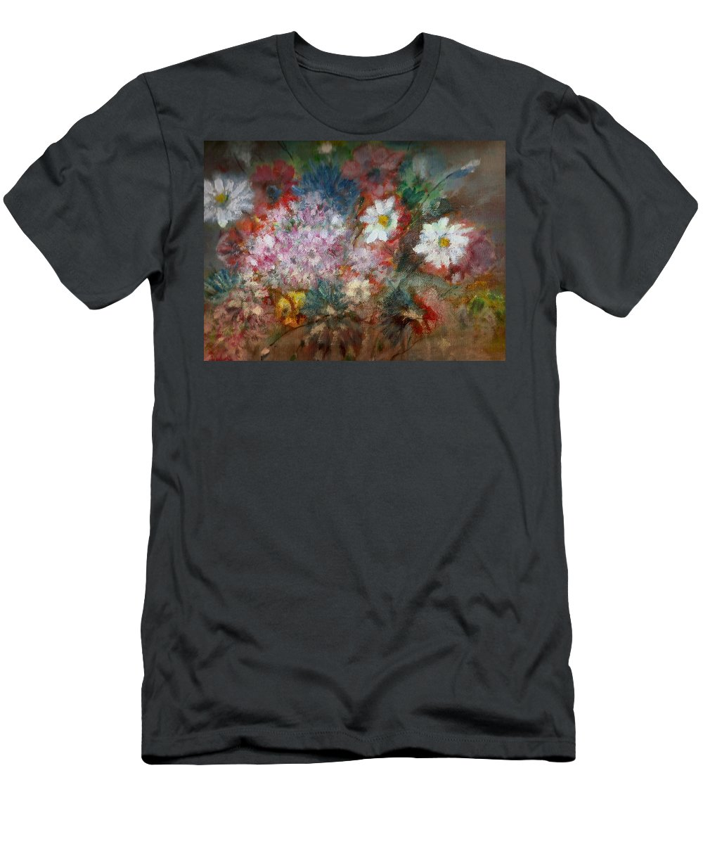 Poppies Men's T-Shirt (Athletic Fit) featuring the painting Summer Night by Pepita Selles