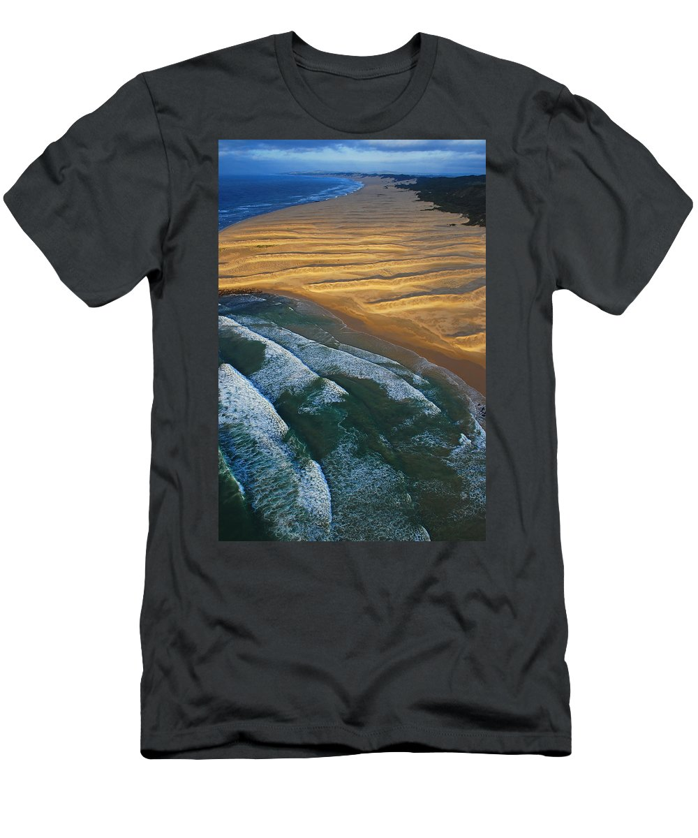 Coast Men's T-Shirt (Athletic Fit) featuring the photograph Sun Rise Coast by Skip Hunt