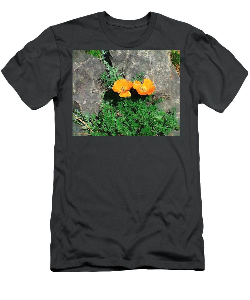 Cliff Men's T-Shirt (Athletic Fit) featuring the painting Sunbathers by RC DeWinter