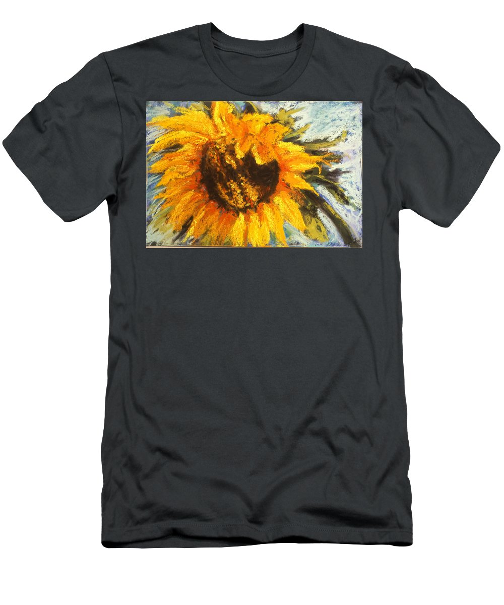 Sunflower Men's T-Shirt (Athletic Fit) featuring the drawing Sunflower by Sherry Jarvis