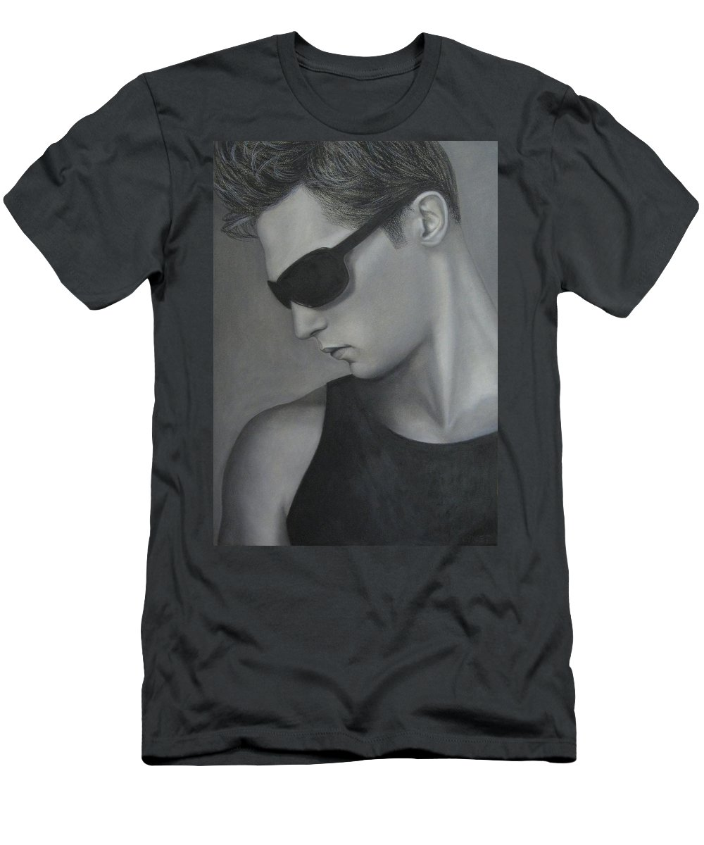 Man Men's T-Shirt (Athletic Fit) featuring the painting Sunglasses by Lynet McDonald