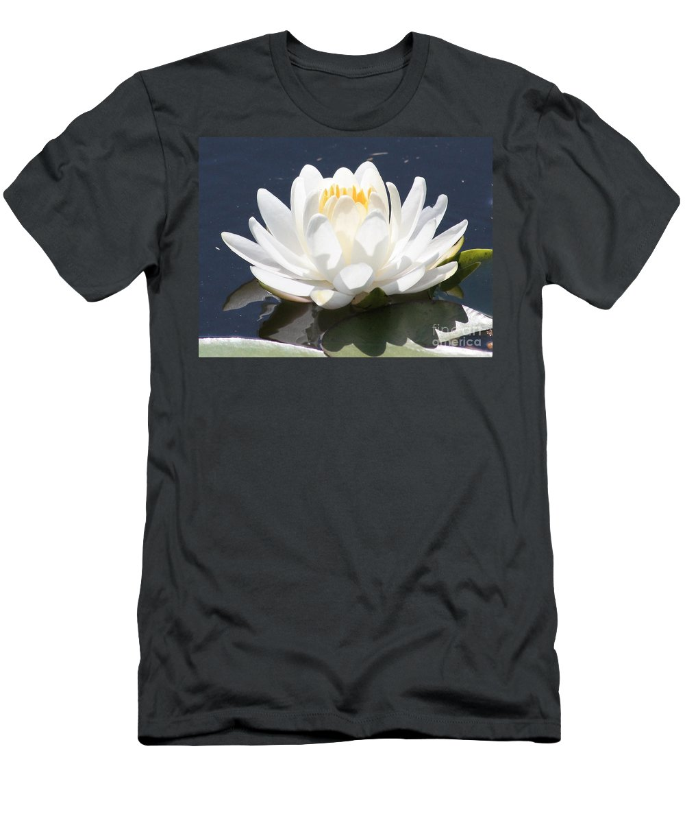Flower T-Shirt featuring the photograph Sunlight on Water Lily by Carol Groenen