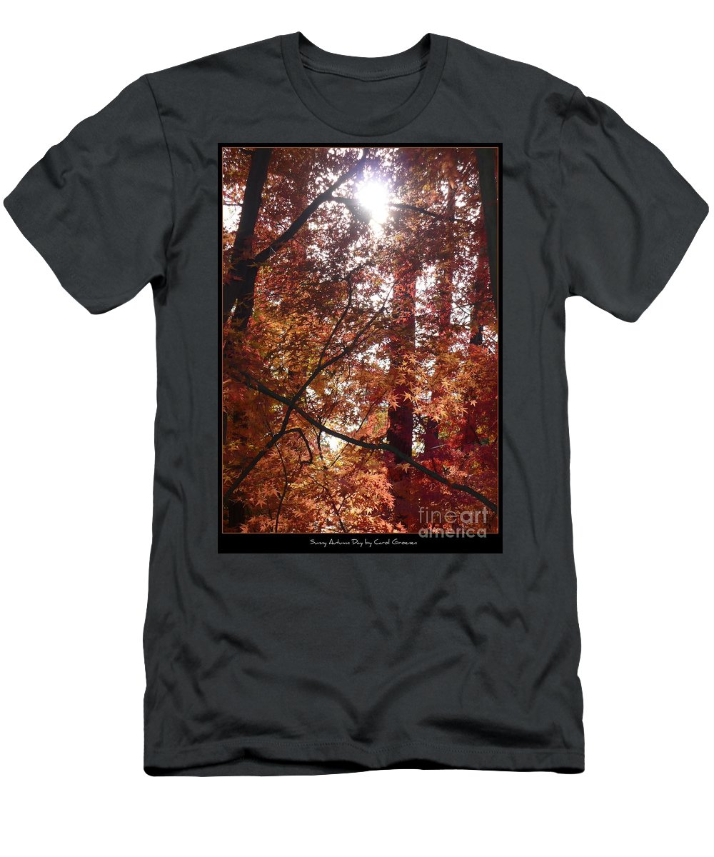 Fall Men's T-Shirt (Athletic Fit) featuring the photograph Sunny Autumn Day Poster by Carol Groenen