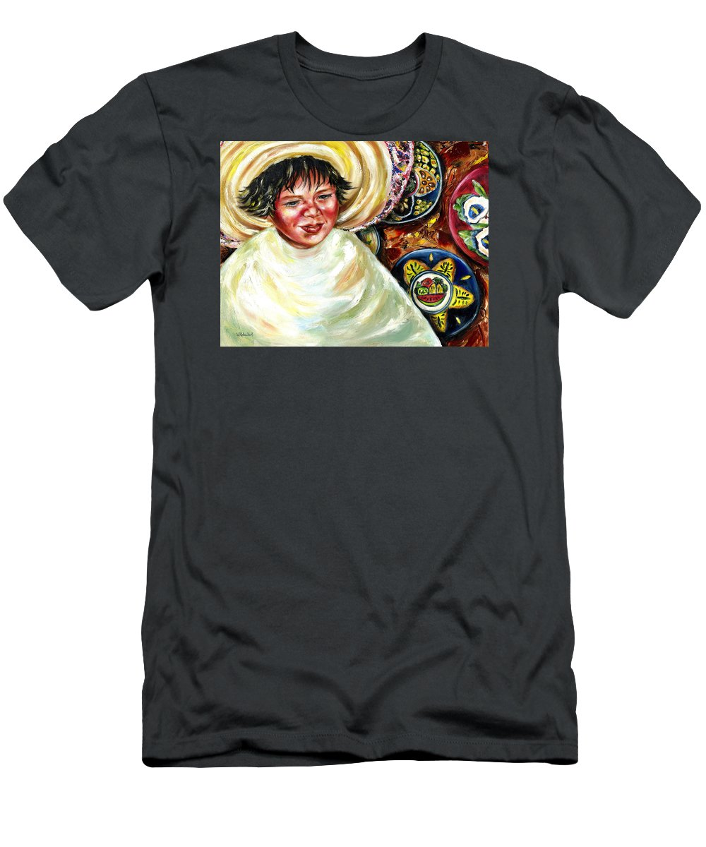 Child Men's T-Shirt (Athletic Fit) featuring the painting Sunny Day by Hiroko Sakai