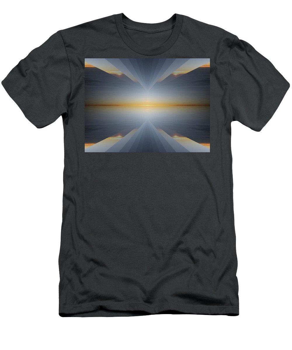 Sunrise Men's T-Shirt (Athletic Fit) featuring the digital art Sunrise At 30k 5 by Tim Allen