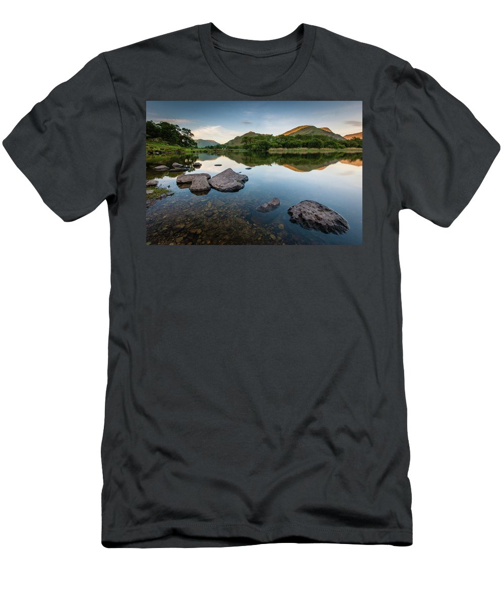 Lake District T-Shirt featuring the photograph Sunrise at Ullswater, Lake District, North West England by Anthony Lawlor