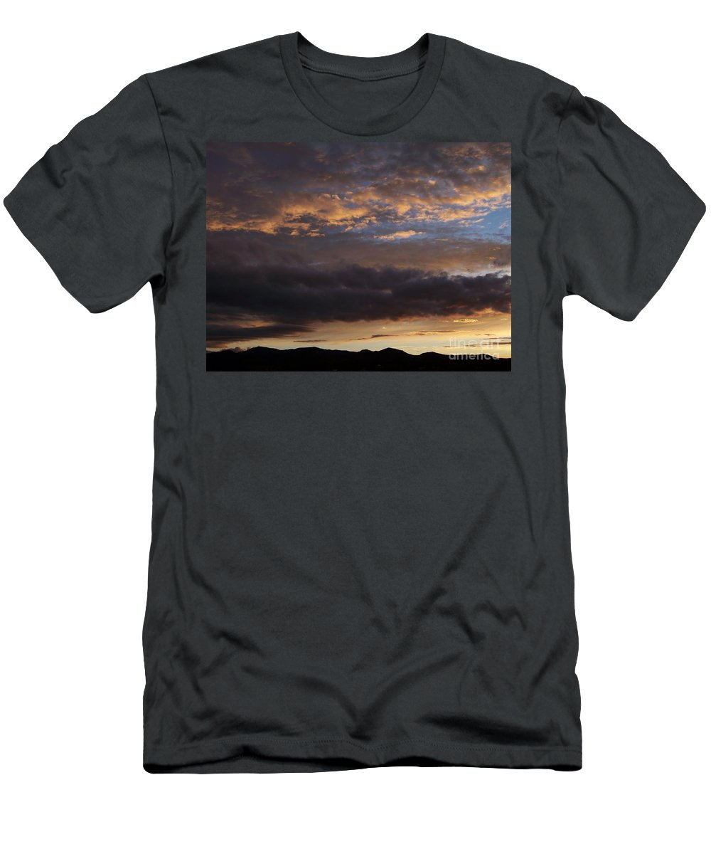 Sky Men's T-Shirt (Athletic Fit) featuring the photograph Sunrise-before The Storm by Brian Commerford