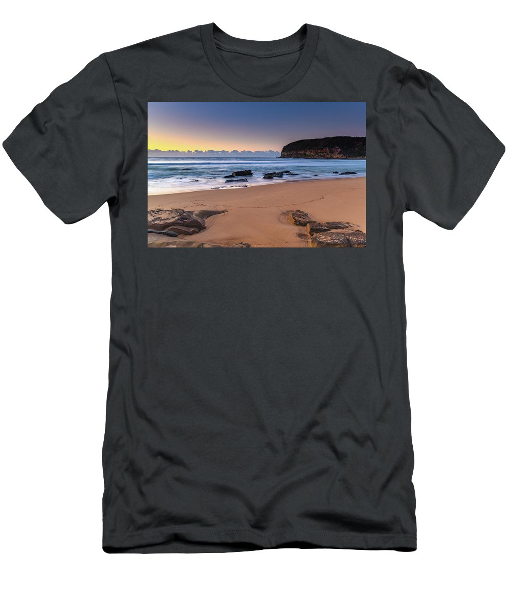 Australia Men's T-Shirt (Athletic Fit) featuring the photograph Sunrise By The Seaside by Merrillie Redden