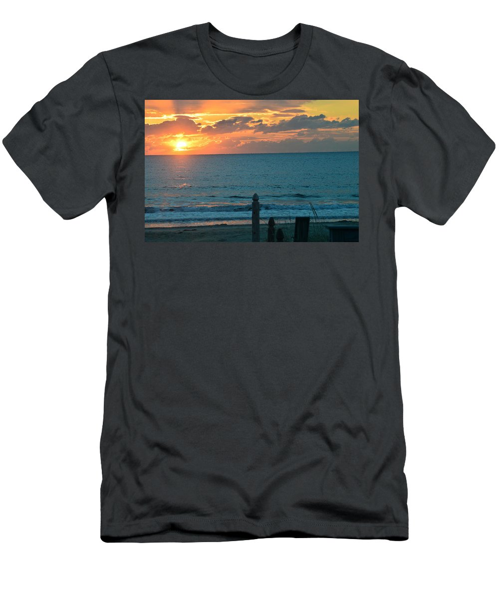 Men's T-Shirt (Athletic Fit) featuring the photograph Sunrise For Mc by Amy Taylor